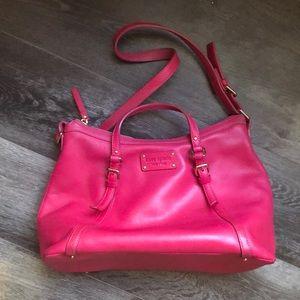 Kate Spade Hot Pink Leather Purse Medium Size
